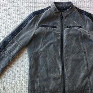 Faux Leather Motorcycle / Dystopian Jacket